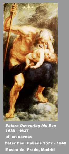 Zeus eating his children
